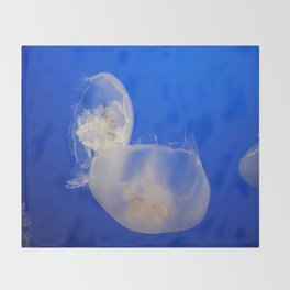 Moon Jelly Throw Blanket