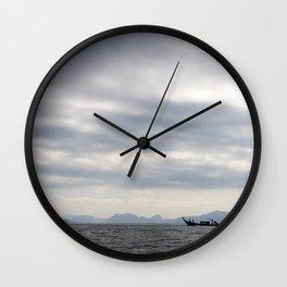 Boats of Phang-nga National Park Wall Clock