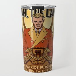 Dystopian Propaganda Murial Travel Mug