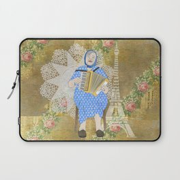 Woman Playing the Accordion Laptop Sleeve