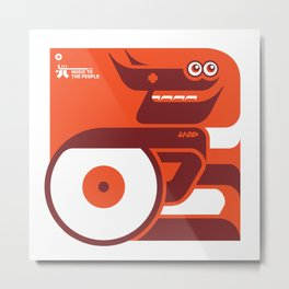 UNDO | Music to the people 05 Metal Print