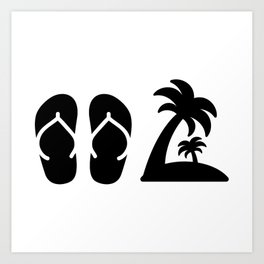 3b2d39aae36363 Beach Vacation Sand Ocean Gift Family Fly Away Tahiti Santorini Cyprus  Phuket Funny Hawaii Art Print