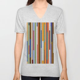 Abstract Composition 609 Unisex V-Neck