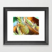 Fresh Pineapples Framed Art Print