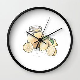 Lemon Curd Wall Clock