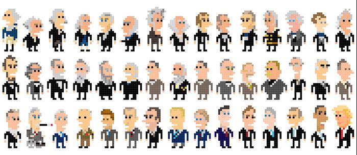 45 Presidents of the U.S.A. Coffee Mug