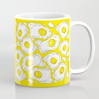 eggs Mugs featuring eggs by AnnaToman