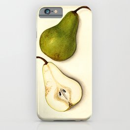 Vintage Botanical Pear iPhone Case