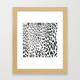 Cheetah II Black & White Animal Print Framed Art Print