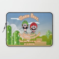 Super Mario Bros. Drain Cleaning & Plumbing Service Laptop Sleeve