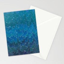 Wavy abstrac Stationery Cards