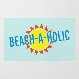 Beach-A-Holic Quote Rug