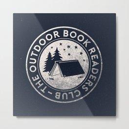 Outdoor Book Readers Club badge Metal Print