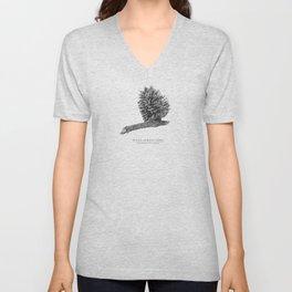 Pine cone graphite Unisex V-Neck