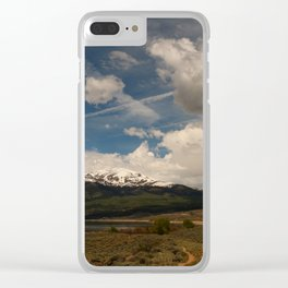 Dramatic Sky Over Twin Lakes Colorado Clear iPhone Case