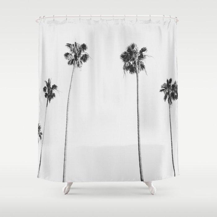 Black & White Palms Shower Curtain