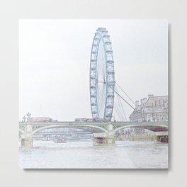 London eye in pencil Metal Print