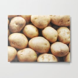 potato texture Metal Print
