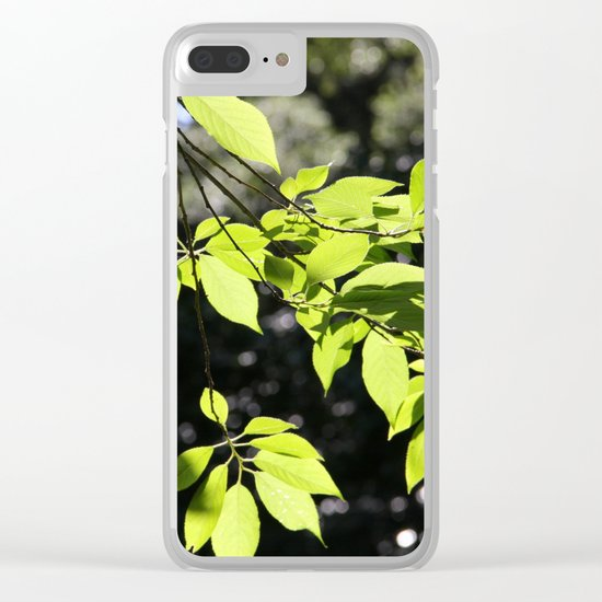 Magic leaves Clear iPhone Case
