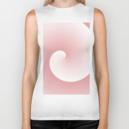 Wave, in white and pink Biker Tank