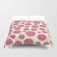 Big Circles Modern Scandinavian Bold Colorful Pattern Duvet Cover