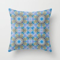 finland Throw Pillows featuring Finland Kaleidoscope by Lu Haddad