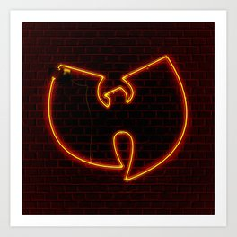Wu Tang Neon Kunstdrucke