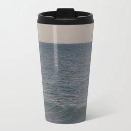 Breakers // Lake Michigan Waves Photography Travel Mug