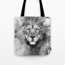 Lion Black and White Tote Bag
