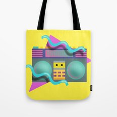 Retro Eighties Boom Box Graphic Tote Bag