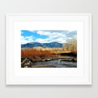 montana Framed Art Prints featuring Montana by Emily DiLaura