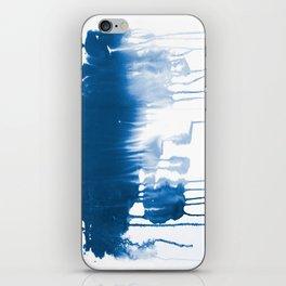 Paint 1 - indigo blue drip abstract painting modern minimal trendy home decor dorm college art iPhone Skin