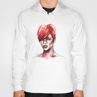 rihanna Hoodies featuring Rihanna by Allison Kunath