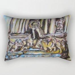Trevi Fountain, Rome Rectangular Pillow