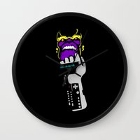 thanos Wall Clocks featuring Power Gauntlet by Sauce Designs