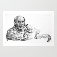 picasso Art Prints featuring Picasso by  JESUS TORRADO TORO (jarttoro)