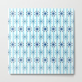 Snowflakes on a striped background Metal Print