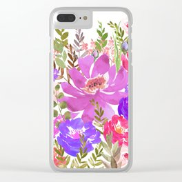 Summer Garden with Wild Flowers Clear iPhone Case