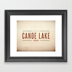 CANOE LAKE Framed Art Print