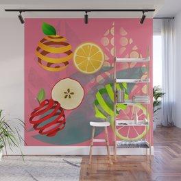 Apple, Orange and Lemon Wall Mural