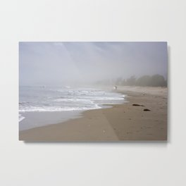 Surfers in the Mist Metal Print
