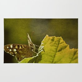 Speckled Wood Butterfly 2 Rug
