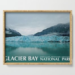 Glacier Bay Travel Poster Serving Tray