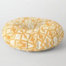 Breeze Block Shibori Tangerine Floor Pillow