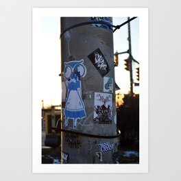 Public Canvases Art Print