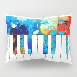 Colorful Piano Art by Sharon Cummings Pillow Sham
