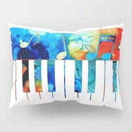 Colorful Piano Art by Sharon Cummings Pillow Sham