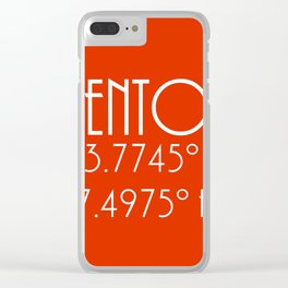 Menton Latitude Longitude Clear iPhone Case