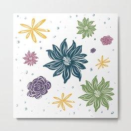 Floral Fusion - StepheJayne Metal Print