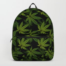 Cannabis Leaf - Black Backpack